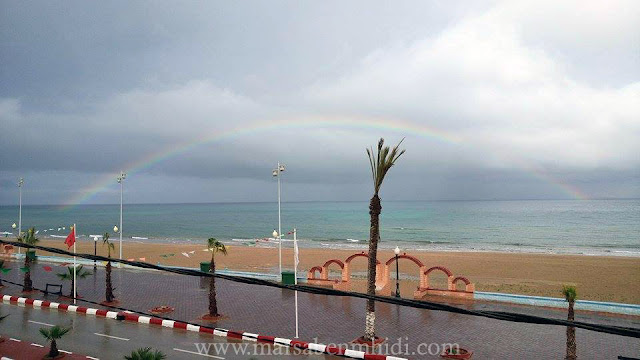 قوس قزح ، شاطئ مرسى بن مهيدي