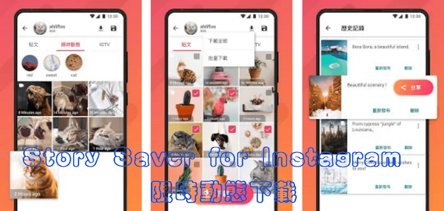 Story Saver儲存Instagram貼文、限時動態