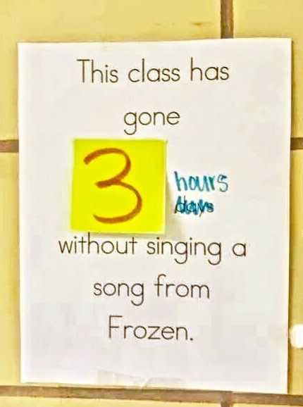 classroom note Frozen song. Do you want. marchmatron.com