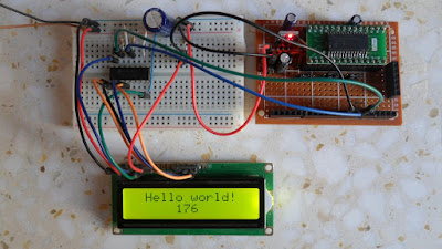PIC24FJ64GB002 16-bit MCU with 1602 LCD hardware circuit