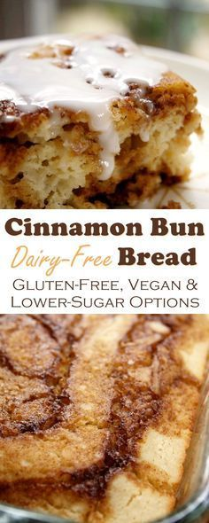Cínnamon Bun Bread (optíonally Gluten-Free, Vegan & Lower Sugar)