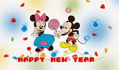Gambar Selamat Tahun Baru 2017 Kartun Lucu Mickey Walt Disney Happy New Year