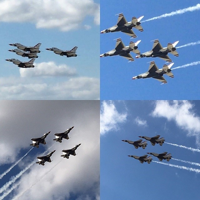 The United States Air Force Thunderbirds demonstration team is always a thrill to watch.