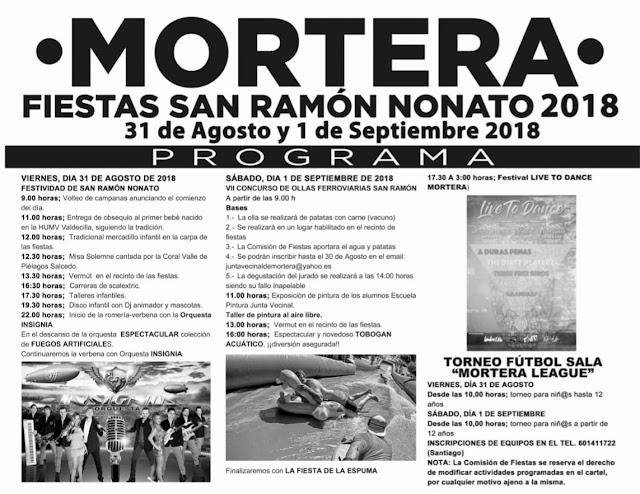 Fiestas de San Ramón Nonato en Mortera 2018
