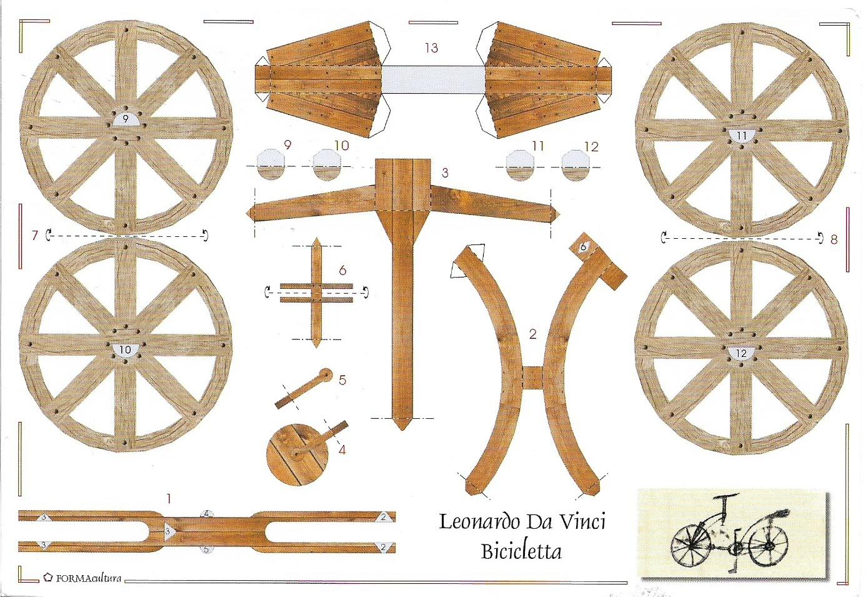 Postcard Albania Bicicletta From Leonardo Da Vinci