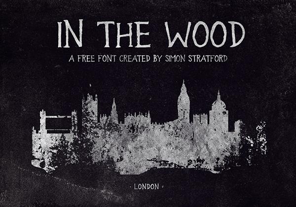 Font Terbaru Untuk Desain Grafis - In the Wood Free Font