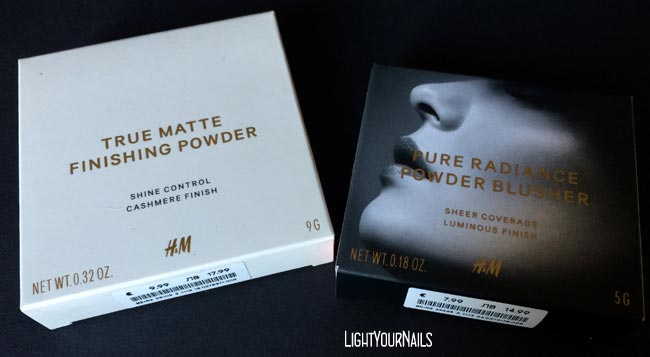 Haul shopping H&M True Matte Finishing Powder Warm Ivory + Pure Radiance Powder Blusher Cantaloupe