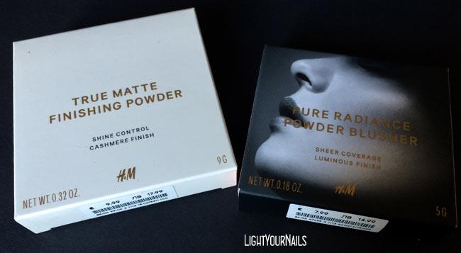 Haul shopping H&M True Matte Finishing Powder Warm Ivory + Pure Radiance Powder Blusher Cantaloupe