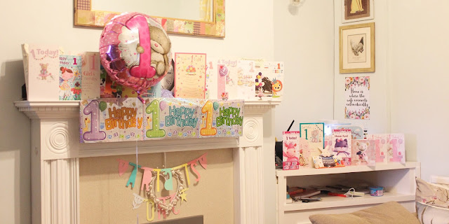 first birthday balloon decorations and cards