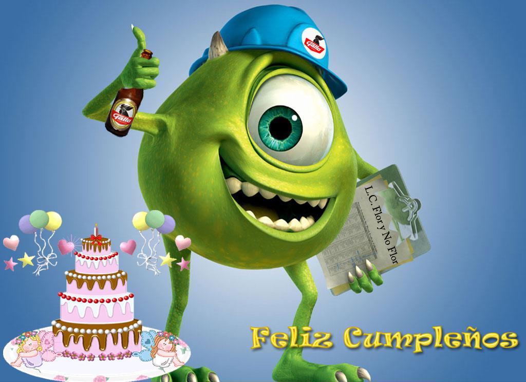 Mike Wazowski feliz cumpleaños