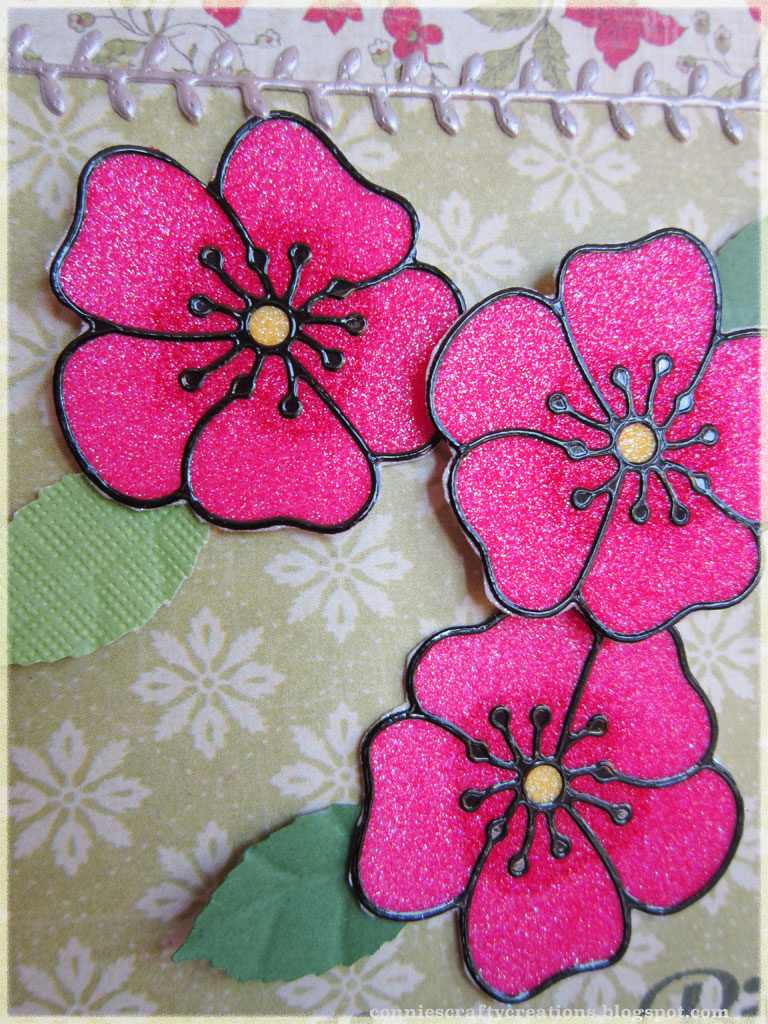 Connies Crafty Creations Glitter Flowers