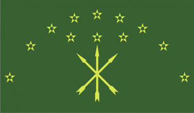 Gambar Bendera Negara Adygea