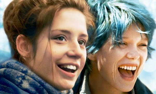 "Léa Seydoux y Adèle Exarchopoulos escena lesbica en ""Blue is the Warmest Colour"""