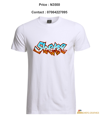Shekpe Graffiti Digital Art Design [Photos] Printed On  White T-Shirt