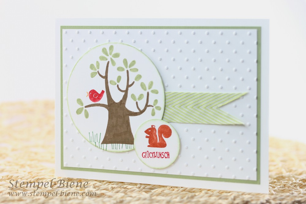 Stampin' Up Gastgeberinnenset Der Wald ruft, Stampin' Up Jahreskatalog 2014-2015, Stampin' Up Framelits Formen Kreis-Kollektion, Match the Sketch, Stampin' Up Sammelbestellung
