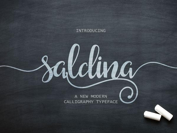 Saldina Modern Script Font Free Download