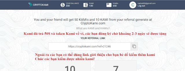 Dự án CryptoKami - Nhận 50$ Cho 10000 Người Sớm Nhất