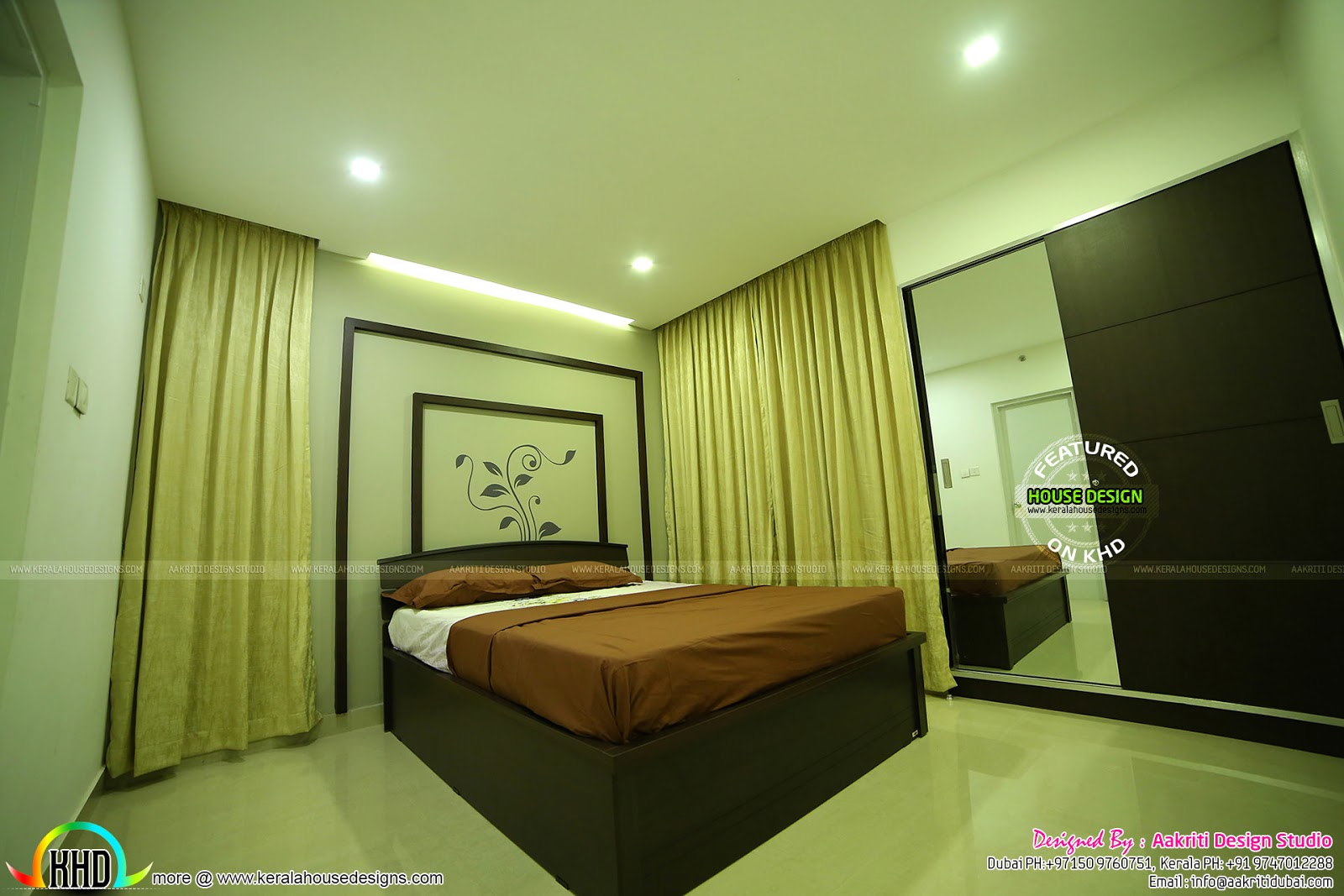 Finished interior photos from kannur kerala kerala home for House plans with finished photos
