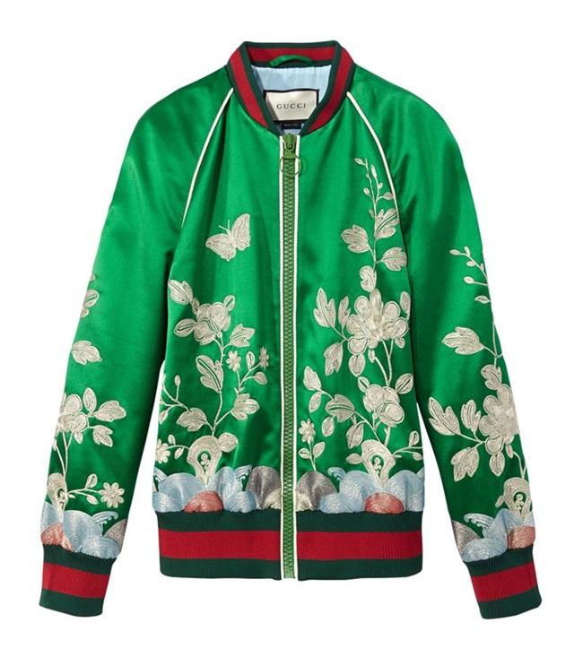 Gucci東方刺繡飛行外套 撞衫