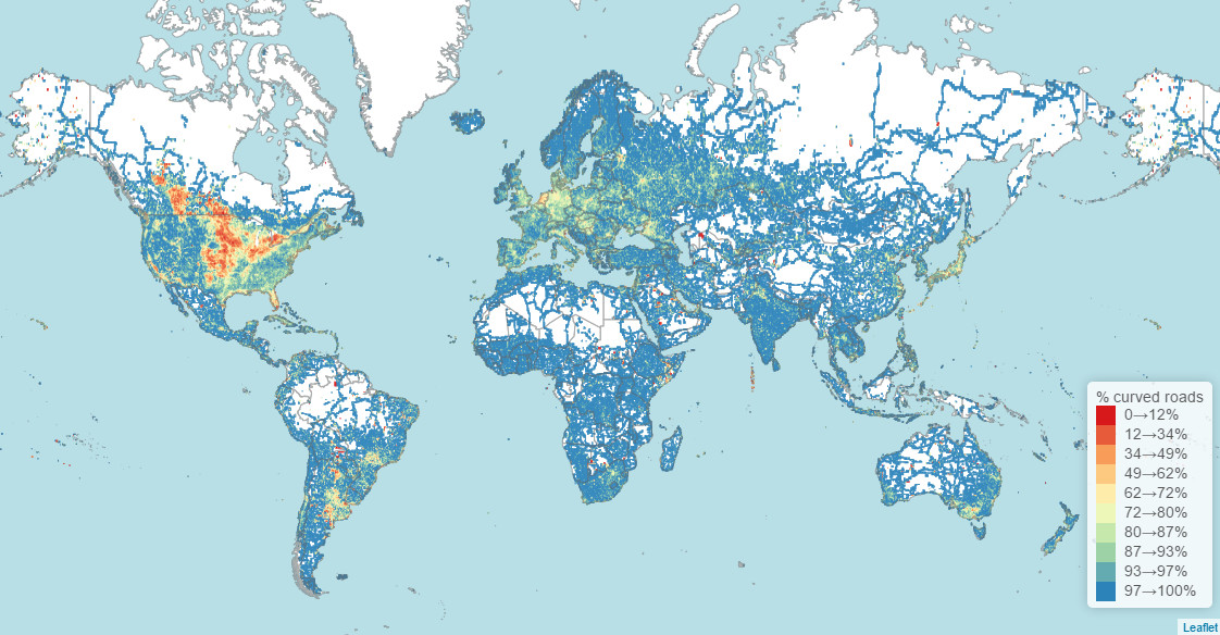 The World's most straightest and bendiest roads