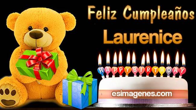 Feliz cumpleaños Laurenice