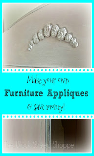 How to make your own furniture appliques and save money! by The Black Sheep Shoppe