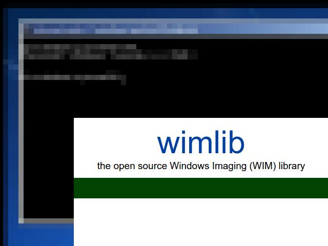 Francisco C Soares: WIMLIB: WinPE no Linux