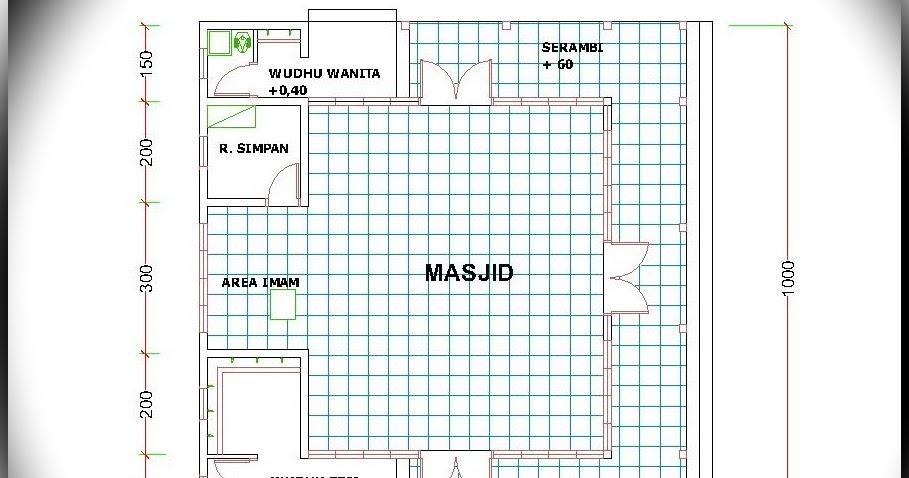 Denah Masjid 10 X 10 M Home Design And Ideas