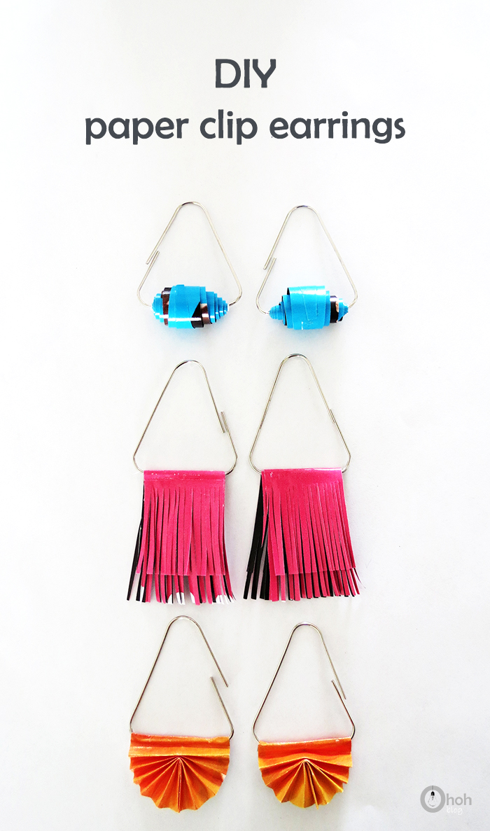 How To Make Paper Clip Earrings Ohoh Deco