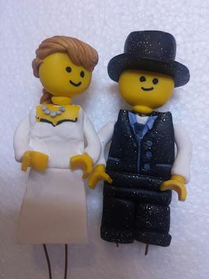 caketopper sposi lego pasta polimerica alberta bijoux