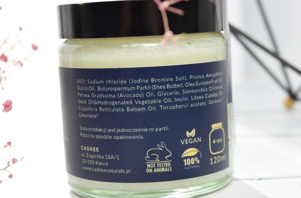 Cashee Naturals, Peeling solny prebiotykowy - Ochrona & Ukojenie