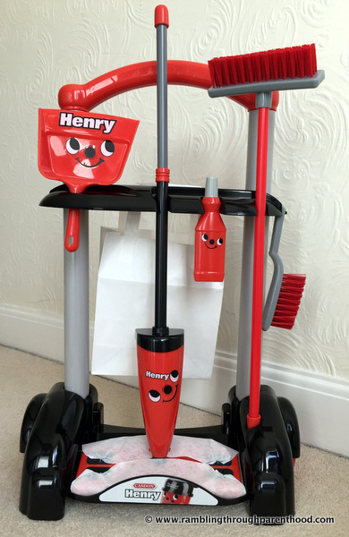 All set and ready to play - Casdon Henry Cleaning Trolley