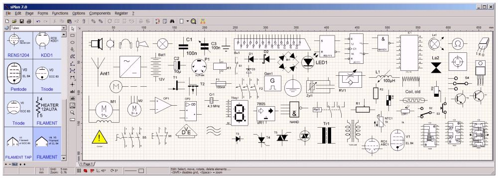 Elektronica Hobby Blog Van Jos Verstraten 425 Artikelen Software Splan 1 Schema S Tekenen