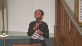 """Young soloist offers beautiful """"Mother's Day"""" service tribute by singing gospel favorite """"His Eye is on the Sparrow"""" with choir: Video"""