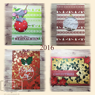 Christmas cards Wild Rose Studio and Impression Obsession Background Stamps