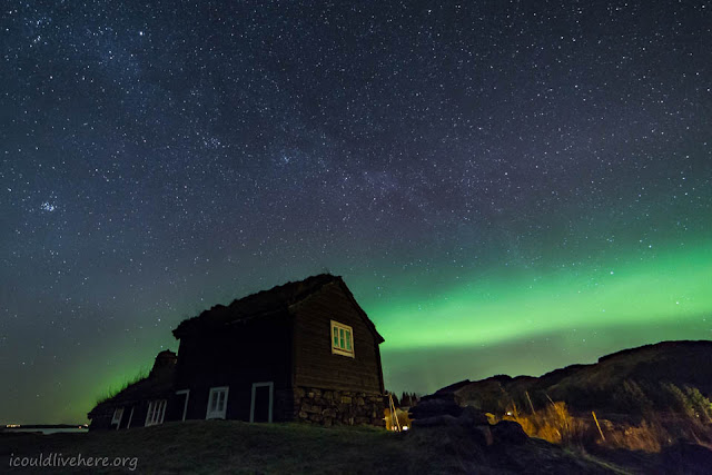 The Old House - One of my favorite motifs under the northern lights