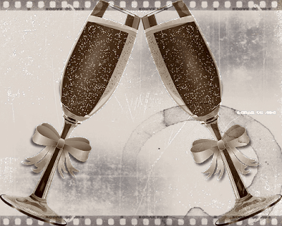Champagne glasses New Years hopes and desires