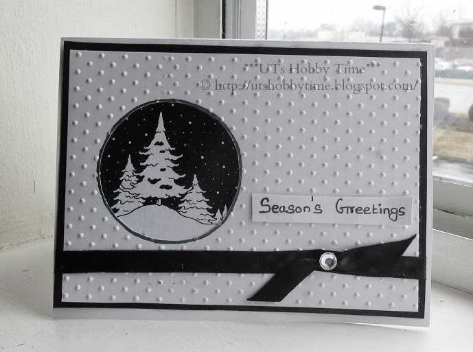UTs Hobby Time*** Handmade Season\u0027s / Holiday / Christmas CAS - christmas cards black and white