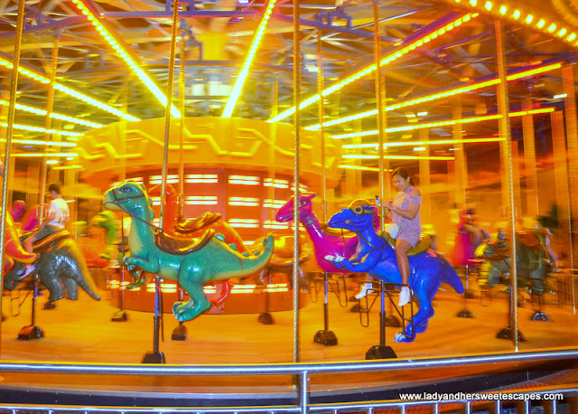 dino carousel at IMG Worlds of Adventure