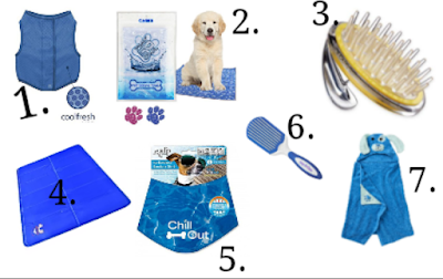 Dog cooling and bath products to shop