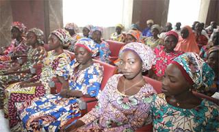 President Buhari meets freed Chibok girls 65