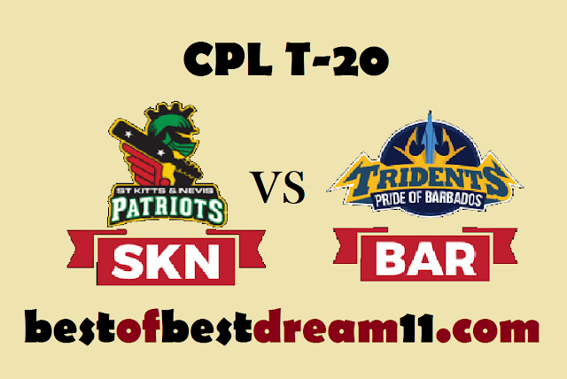 SKN VS BAR DREAM11