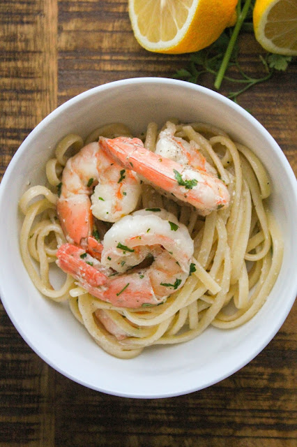 Shrimp Scampi with Linguine | The Chef Next Door