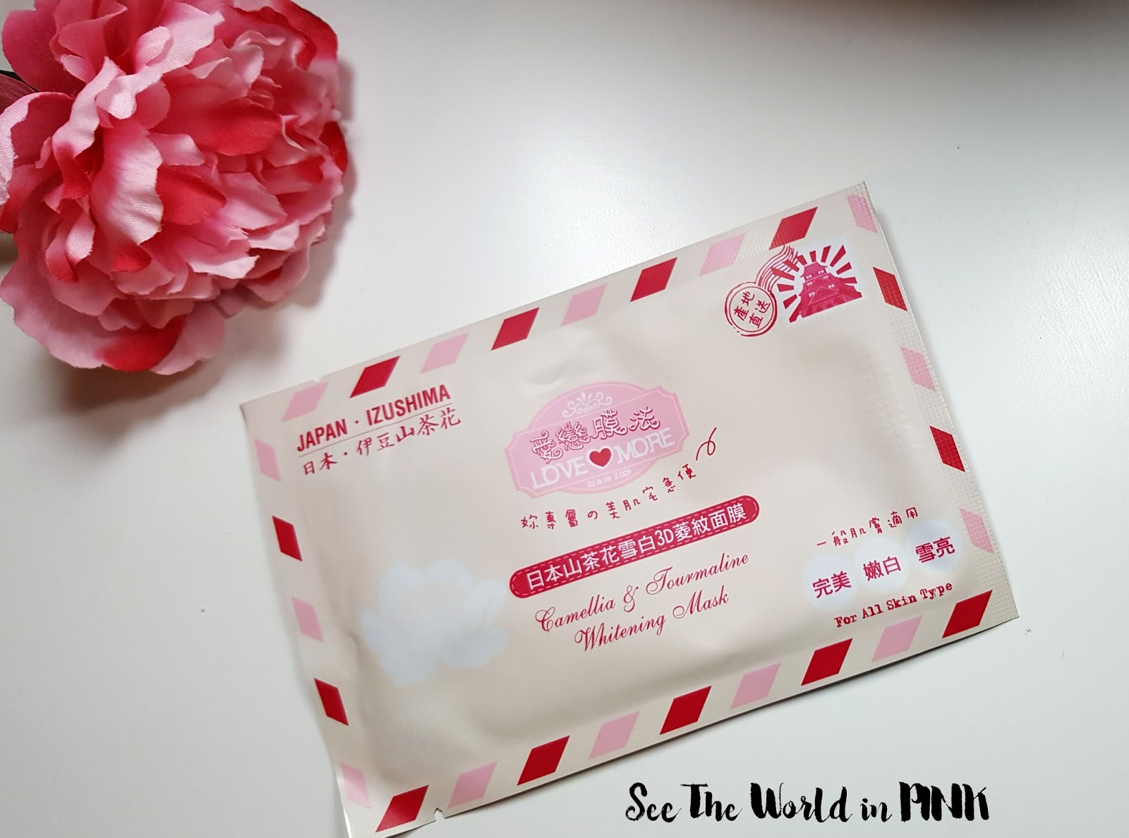 Mask Wednesday - Lovemore Camellia & Tourmaline Whitening Mask Review
