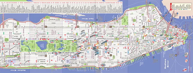 Mapa de new york - Callejero manhattan ...