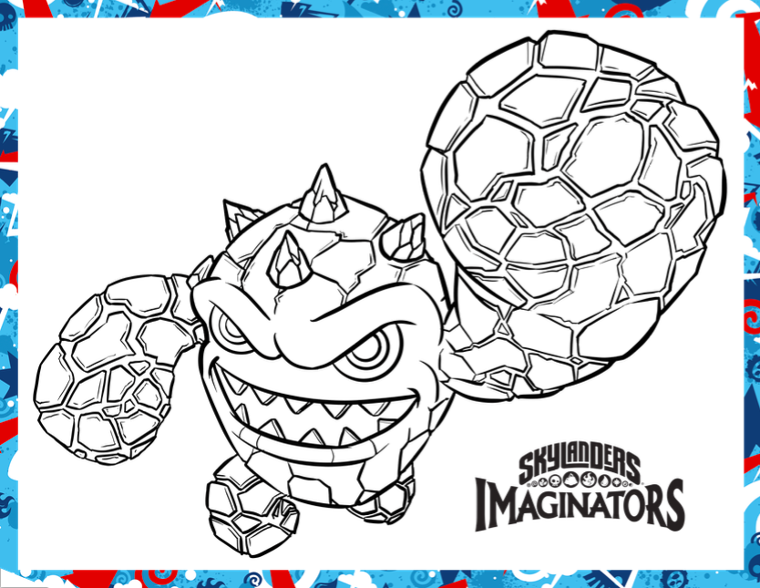 Day To Day Moments Get Kids Moving With Skylanders Skylander Boy And Coloring Pages