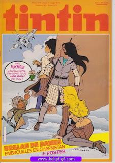 Tintin-numéro 2, année 38, 1983, couverture Renaud