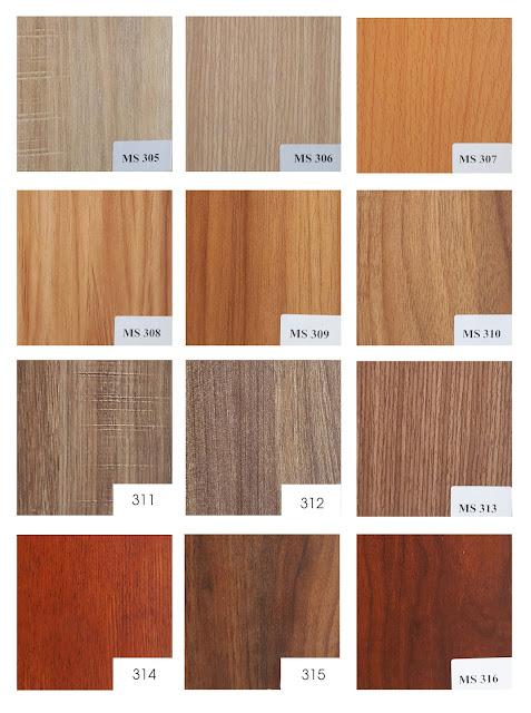 bảng màu melamine vân gỗ talab