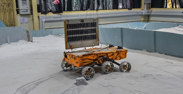 A model of the Chandrayaan-2 rover