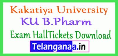 Kakatiya University B.Pharm Exam HallTickets Download
